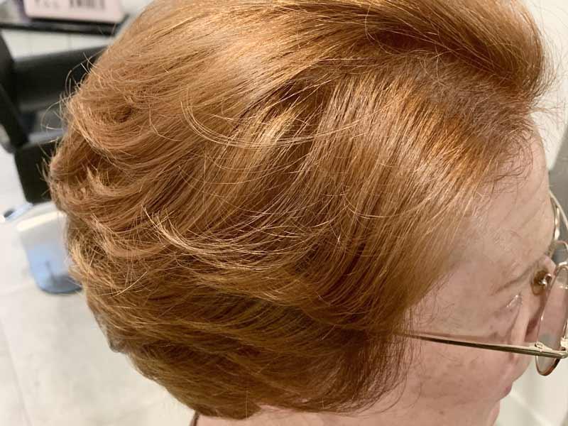 oker gekleurde haren